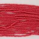 1 string of Size 13 Opaque Cherry Red Lustre Czech charlottes