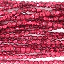 50 x 4mm faceted beads in Metallic Pomegranate Ice