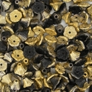 25 x Black Amber Flower cups (7x5mm)
