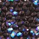 50 x 5mm faceted beads in Black AB