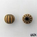 CSB-22-D Golem Studio melon bead in Ginger on Dark