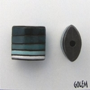 CPB-021-B-XL pillow bead in Blue and Grey Stripes
