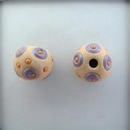 SB-85-F round bead in Purple circles and Orange dots