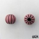 CSB-22-C Golem Studio melon bead in Pink on Dark