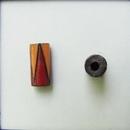 CTB-06-G Golem Studio tube bead in Red and Orange triangles