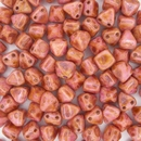 10 x 6mm pyramids in Alabaster/Red Brown Travertin