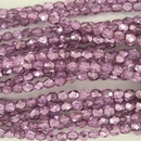 50 x 4mm faceted beads in Metallic Lilac Ice