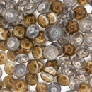 25 x piggy beads in Crystal Valentinite
