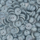 25 x piggy beads in Chalk White/Blue Lustre