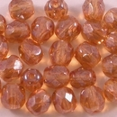 25 x 5mm faceted beads in Topaz Lustre
