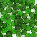 25 x piggy beads in Emerald