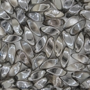 12 x Crystal / Chrome Twist beads (6x12mm)