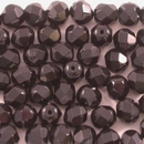 50 x 6mm faceted Black beads