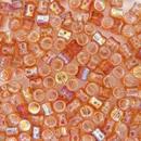 50 x Orange Rainbow Diabolo shaped beads