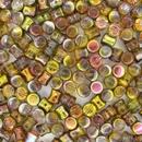 50 x Magic Green Diabolo shaped beads