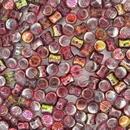 50 x Magic Wine Diabolo shaped beads