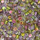 50 x Magic Orchid Diabolo shaped beads