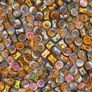 50 x Magic Copper Diabolo shaped beads