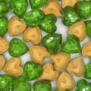 11x12mm Peridot Green Heart Cabochon (Vintage) Cab64