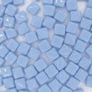 25 x 6mm Silky beads in Light Blue
