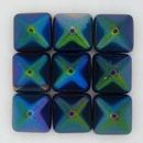 2 x 12mm Pyramids in Magic Blue