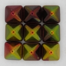 2 x 12mm pyramids in Magic Apple