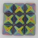 2 x 12mm Pyramids in Crystal Vitrail