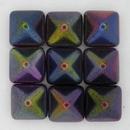 2 x 12mm Pyramids in Magic Purple