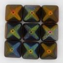 2 x 12mm Pyramids in Magic Copper