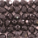 50 x 7mm faceted beads in Black