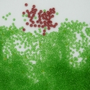 Size 18/0 Grass Green seed beads (pre-1900s)