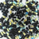 5g Half Tila beads in Black AB (HTL4555)