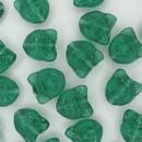 2 x 13mm Teal Green Cat heads