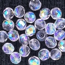 25 x 8mm faceted beads in Crystal AB