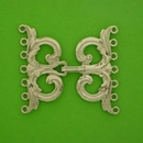 Claspgarten Silver clasp with 7 rows 14183 - 38x35mm