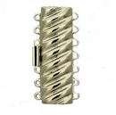 Claspgarten Silver textured clasp with 7 rows 14673 - 38x12mm