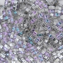 Crystal Vitrail Light Half Tila Beads