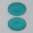25x18mm Luna Soft Oval Cabochon in Blue Zircon