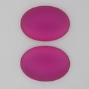 25x18mm Luna Soft Oval Cabochon in Fuschia