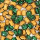 Cab81 - 8x6mm octagonal cabochon in Emerald (Vintage)
