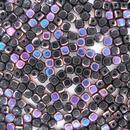 50 x 4mm cubes in Black Sliperit