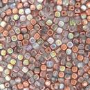 50 x 4mm Crystal Copper Rainbow cubes