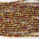 50 x 2mm round beads in Black California Gold Rush