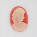 25x18mm Coral Red Cameo CAM25 (Vintage)