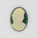 Cam28 - 25x18mm Cameo in Emerald Green (Vintage)