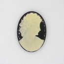 25x18mm Black Cameo CAM26 (Vintage)