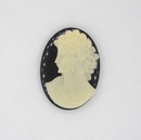 25x18mm Black Cameo CAM29 (Vintage)