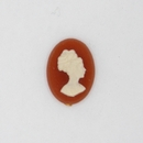 Cam32 - 15x11mm Cameo in Red (Vintage)