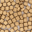 20 x Matt Gold 6mm Czech Tiles