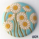 CED-01-A Daisies on Light Blue Cabochon